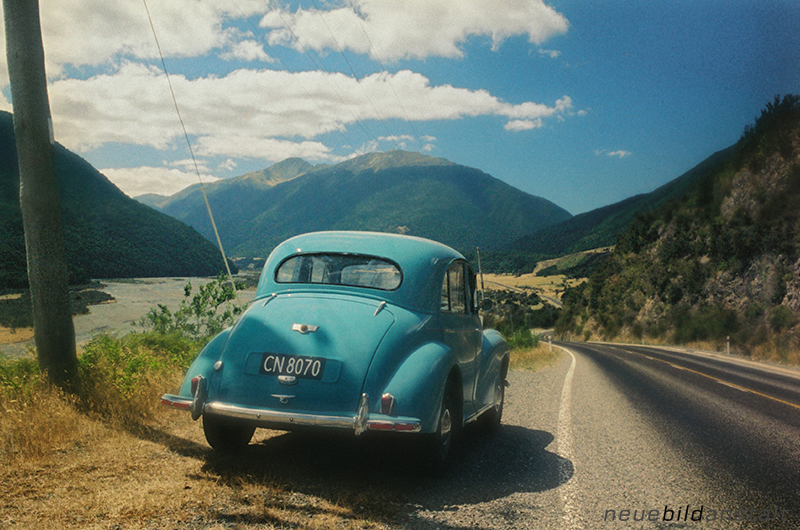 Morris Minor, Arthurs Pass, New Zealand, South Island
