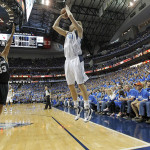May 2 2014 Dallas TX USA Dallas Mavericks forward Dirk Nowitzki 41 attempts a three point s