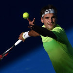 Jan 21 2015 Melbourne VICTORIA AUSTRALIA Switzerland s Roger Federer in action during his ma