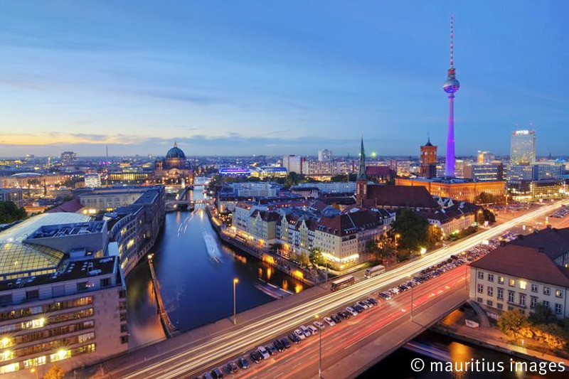 Skyline at Night, Berlin, Germany