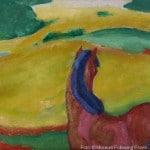 Pferd in Landschaft. 1910