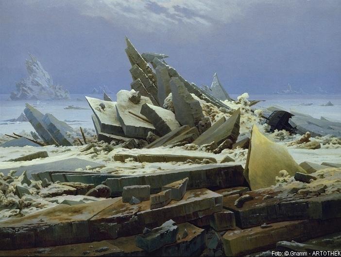 Das Eismeer (Die gescheiterte Hoffnung). Um 1823/24