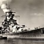Ak Blick aufs deutsche Schlachtschiff Scharnhorst