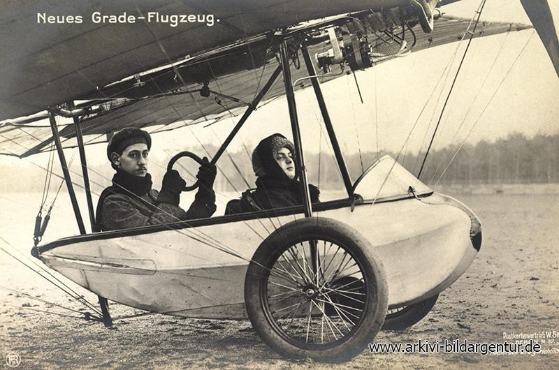 Ak Neues Grade Flugzeug, Besatzung, Sanke, RPH