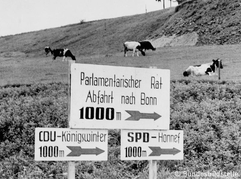 Parlamentarischer Rat / Hinweisschild 1948