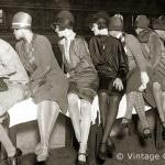 Berlin, Zuschauerinnen bei einem Radrennen im Sportpalast, 1928