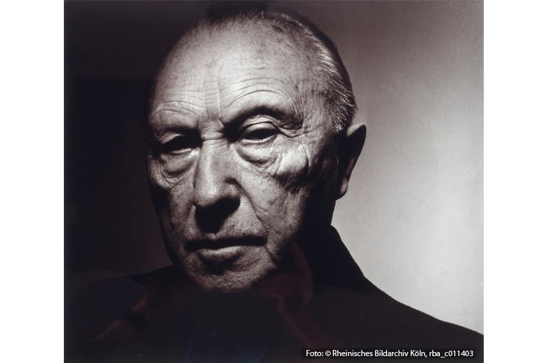 Chargesheimer: Porträt Konrad Adenauer, 1956, Museum Ludwig, Fotografische Sammlung, ML/F 1977/0172 (Foto: Rheinisches Bildarchiv Köln, rba_c011403)
