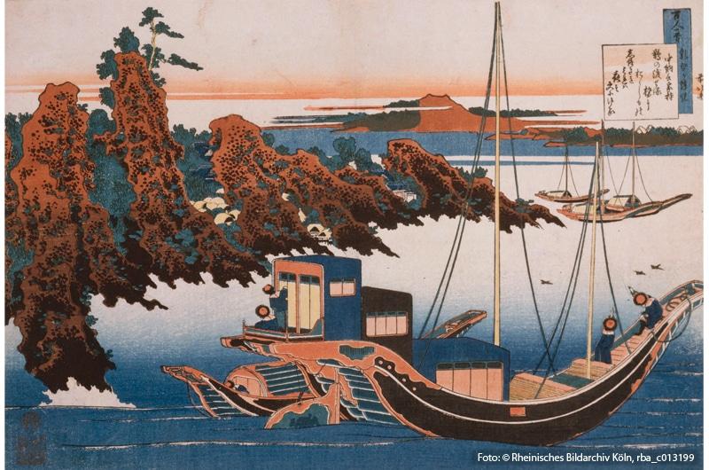 Hokusai, Katsushika: Gedicht des Chūnagon Yakomochi (Foto: © Rheinisches Bildarchiv Köln, rba_c013199)