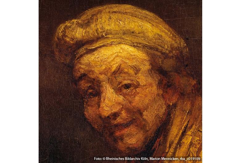 Rembrandt (Harmensz van Rijn): Selbstbildnis, um 1668, Wallraf-Richartz-Museum & Fondation Corboud, Gemäldesammlung, Inv.-Nr. WRM 2526, Detail (Foto: © Rheinisches Bildarchiv Köln, Marion Mennicken, rba_c019109)