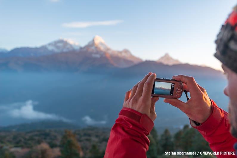 Annapurna I und Süd vom Poon Hill aus fotografiert