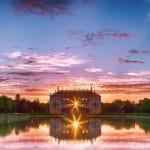 Palais im Großen Garten im Sonnenuntergang, Dresden, Sachsen, Deutschland