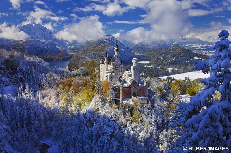 Schloss Neuschwanstein, Füssen, Schwaben, Bayern, Deutschland