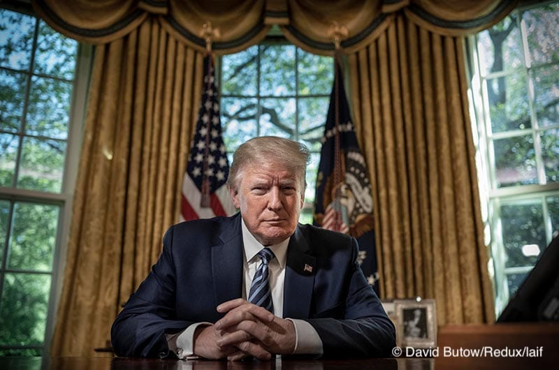 President Donald Trump at Oval Office in the White House, in Washington DC, May 4, 2020.