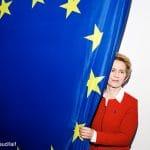 *** SPECIAL FEE *** HIGHRES ON REQUEST *** Ursula von der Leyen, Praesidentin der Europaeischen Kommission, CDU, Berlin, 2019, Engl.: *** SPECIAL FEE *** Ursula von der Leyen, German CDU politician, President of the European Commission, portrait in Berlin, Germany, Europe, 20 December 2019. female, woman, politics