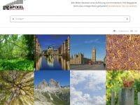 Large Format Stock Portal der Gigapixel GmbH präsentiert sich in modernem und minimalistischem Design