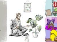Über 1 Jahr Corona: Stock-Illustrationen