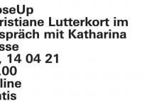 laif: Künstlerinnengespräch mit Katharina Bosse
