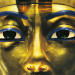 Tut-anch-Amun, Goldmaske, Ausschnitt