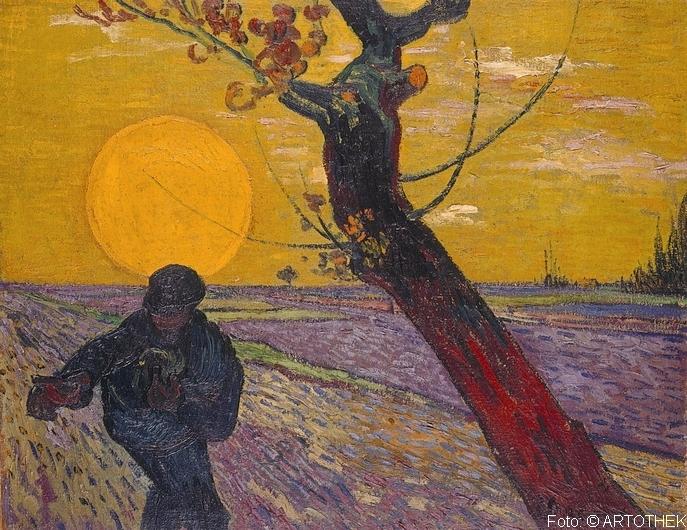 Sämann bei untergehender Sonne. 1888