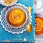 Getraenkte Orangen - Cupcakes mit Pinienkernen