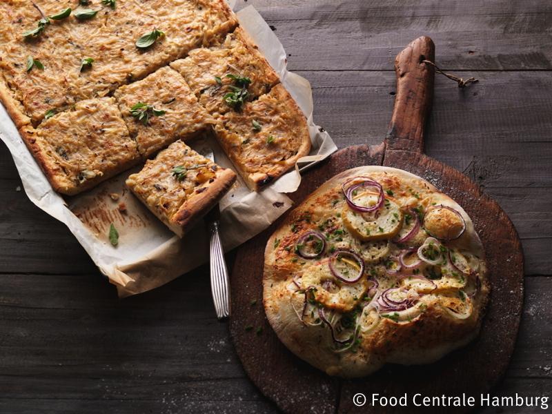 Tableau: Zwiebelkuchen / Zwiebel - Dinnete