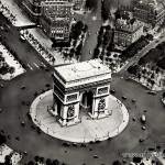 Ak Paris, L'arc de Triomphe, Fliegeraufnahme