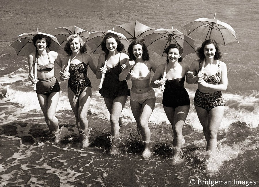 Girls from the show Revels, 1951 (b/w photo)