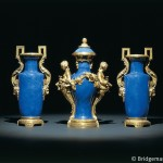 Louis XVI garniture de cheminee, from the collection of Rouille de Boissy (ormolu & Chinese porcelain)