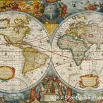 Weltkarte von 1630: