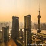 Asien, China, Shanghai, Oriental Pearl TVs Tower, Blick ¸ber die Stadt