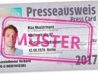 Presseausweis auch 2017 über den BVPA