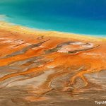 colors of Grand Prismatic Springs at Yellowstone National Park