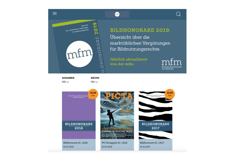 Digital-Paket Bildhonorare 2019 – ePaper für mobile iOS-/Android-Geräte und Browser