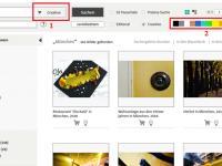 SZ Photo: Farb- und Creative-Suche im Webshop jetzt noch einfacher